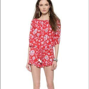 Faithfull the Brand Dresses & Skirts - Faithfull the brand cabana playsuit in summer red