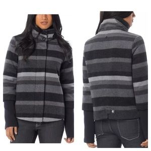Prana Jackets & Blazers - NEW Prana Wool Lily Striped Jacket Coat