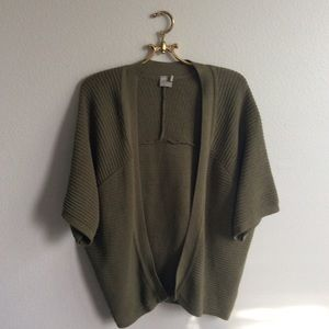 ASOS Sweaters - Asos Olive Green Knit Open Cocoon Cardigan