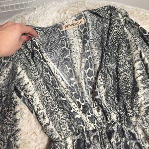 revolve Dresses - Deep V Long sleeve Romper from Revolve- never worn