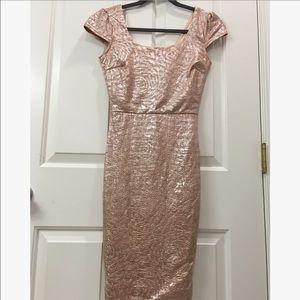 NEW Rose Gold Metallic Dress