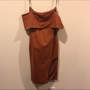 ASOS Dresses - NWT Lavish Alice Bandeau Asymmetric Midi Dress
