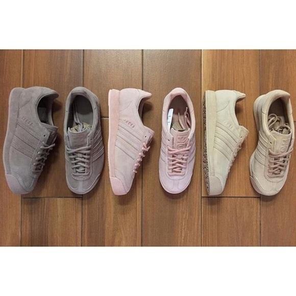 9b4055a03fd793 Adidas Shoes - Adidas Vintage Samoa Suede Vapour Pink