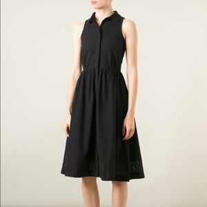 YMC Dresses & Skirts - YMC Black cotton perforated shirt dress