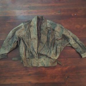 Vintage 80s oversize leather jacket