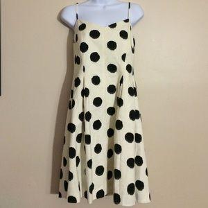 NWT LOFT Black and White Polka Dot dress