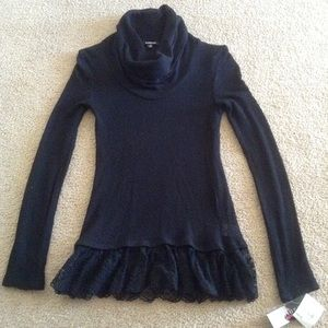 New Long Sleeve Cowl Neck Blouse