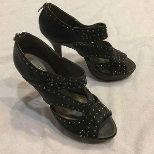 Vince Camuto studded zip back spike heels Size 10
