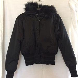 Bebe Sport Puffer Jacket w/ Faux Fur