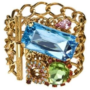 Erickson Beamon Jewelry - Erickson Beamon Jeweled Chain Bracelet