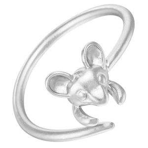  Adjustable Silver Mouse Ring