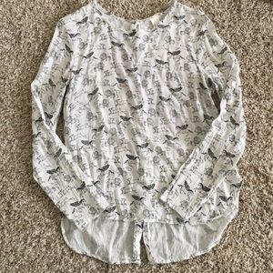 H&M Tops - White printed blouse