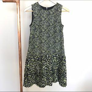 LOFT pleated dress 0