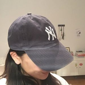 9fc193d6e5 J. Crew Accessories - New York Yankees Faded Navy Cap