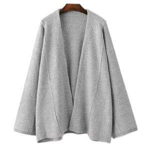 Goodnight Macaroon Sweaters - NWT Goodnight Macaroon Bonnie gray open cardigan