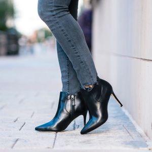 Johnston & Murphy Valerie Black Bootie Heels