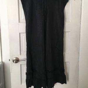 Old Navy black Linen skirt