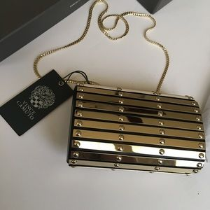 Vince Camuto gold clutch