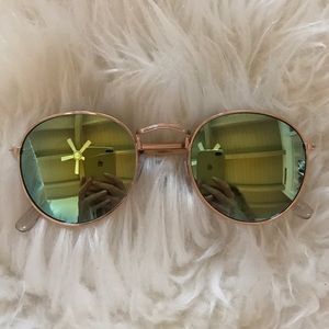 Round Mirrored B.P. Sunglasses