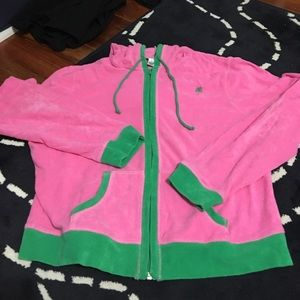 Lilly Pulitzer Sweaters - Hot pink Lilly Pulitzer zip hoodie