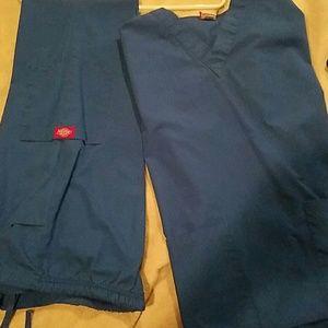 Blue scrub set