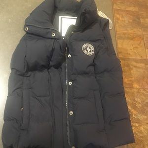 Navy Abercrombie and Fitch down vest