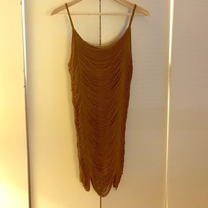 Dresses & Skirts - Great gatsby style dress in gold/champaign. Size S
