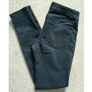 Articles of Society Black Coated Skinny Jeans, 26