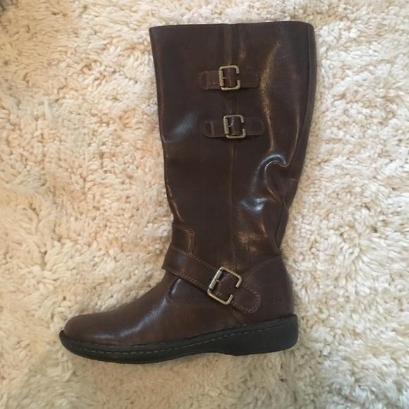 b7f77f39ca1c Born Shoes - B.O.C Born concept Cleo Brown boot wide calf