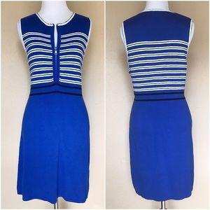Topshop Dresses & Skirts - NWT Topshop Blue & White Striped Knit Zip Dress