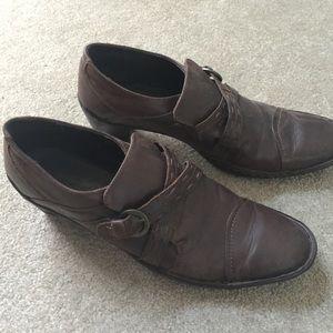 Josef Seibel Shoes - Brown Heeled Loafers