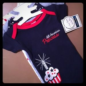 Baby Kiss Other - NWT Baby Kiss 3-pc All American Onesie Set