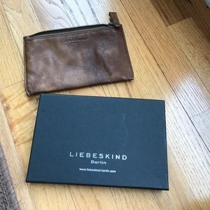 Liebeskind Handbags - Liebeskind Berlin Brown Zip Pouch