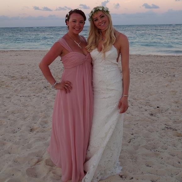 78f9fcf043 David s Bridal Dresses   Skirts - David s bridal bridesmaid dress light ...
