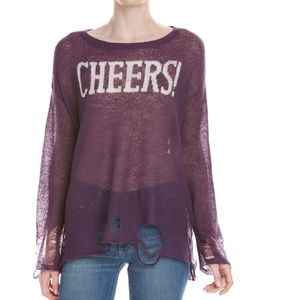 🎉NWT🎉Wildfox Couture Cheers wool blend sweater