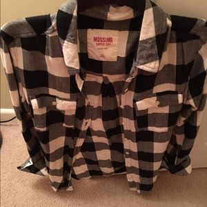 Mossimo Supply Co Tops - Lumber jack style black & white button up (large)