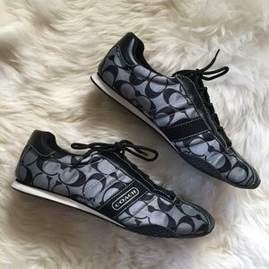 Coach Shoes - Coach Black & Gray Kirby Sateen Sneakers