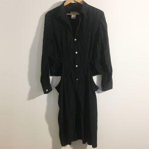 Yohji Yamamoto Dresses & Skirts - Yohji Yamamoto Black Cut-Out Ring Shirt Dress