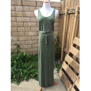 Great Olive Green Maxi Dress