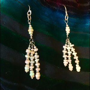 Jewelry - 🔥FLASH SALE🔥 White Opal/Sterling Silver Earrings