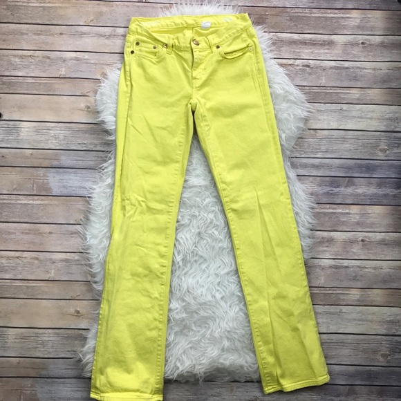 70% off J. Crew Denim - J. Crew Yellow Bootcut Jeans from ! erin's ...