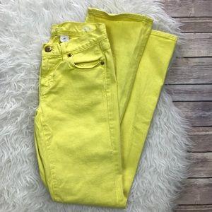 J. Crew Denim - J. Crew Yellow Bootcut Jeans