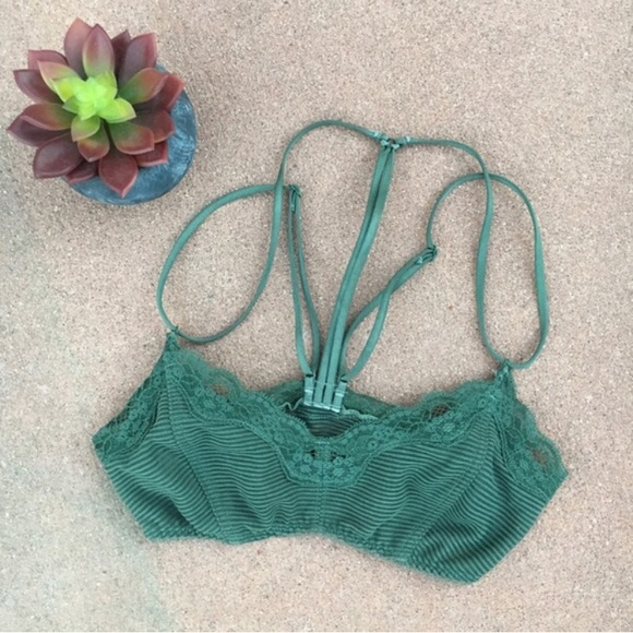 6b6bf5e040e Free People Other -  fp  I Got Stripes Green Caged Bralette XS