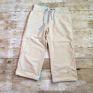Horny Toad Pants - Horny Toad khaki hiking/travel capri pants