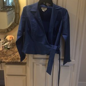 Lord and Taylor silk blue blouse