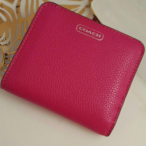 5ef10b01c30 Coach Bags | Sale Bn Magenta Leather Small Wallet | Poshmark