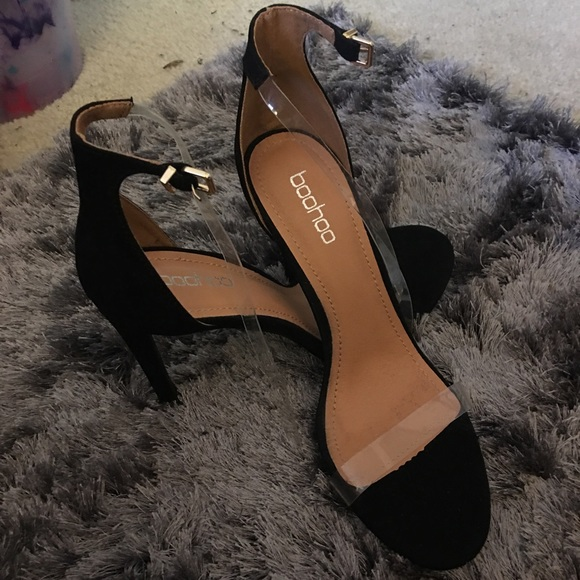 Black Heels With Clear Straps | Poshmark
