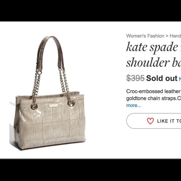 b7f7900707d7 kate spade Handbags - Kate Spade Knightsbridge Helena Embossed croc bag