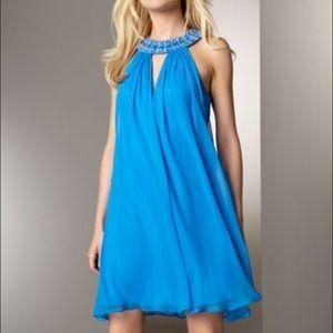 Bloomingdale's Dresses & Skirts - Marc Bouwer blue cocktail dress embellished collar