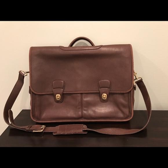 Coach Bags Mens Vintage Leather Messenger Briefcase
